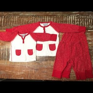 Two Matching Coccoli pajama sets 9 and 18 months
